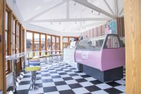 Inside of the Ice Cream Parlour at Stratford Garden Centre